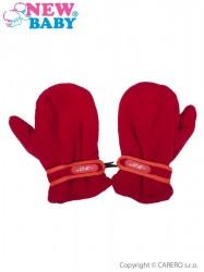 Detské zimné rukavičky New Baby fleecové červené