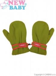 Detské zimné rukavičky New Baby fleecové olivové zelená