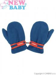 Detské zimné rukavičky New Baby fleecové svetlo modré