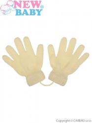 Detské zimné rukavičky New Baby krémové béžová