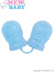 Detské zimné rukavičky New Baby so šnúrkou modré