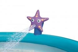 Detský bazén s nafukovacím okrajom a sprchou Bestway modrá #1