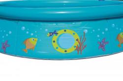 Detský bazén s nafukovacím okrajom a sprchou Bestway modrá #2