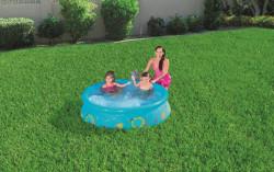 Detský bazén s nafukovacím okrajom a sprchou Bestway modrá #3