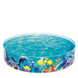 Detský bazén s pevnou stenou Bestway more multicolor