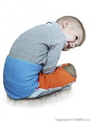 Detský bederňák 5-11 rokov VG antracitovo-limetkový zelená