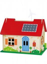 Detský drevený EKO domček pre bábiky Viga Červená