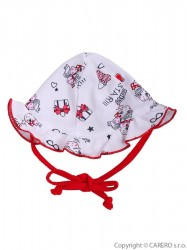 Detský klobúčik Baby Service Miss Star Červená