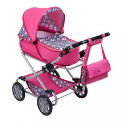 Detský kočík pre bábiky 2v1 New Baby Ruženka ružová