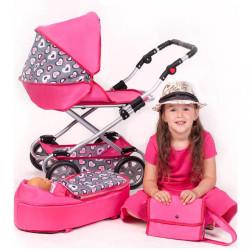 Detský kočík pre bábiky 2v1 New Baby Ruženka ružová #2