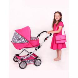 Detský kočík pre bábiky 2v1 New Baby Ruženka ružová #3