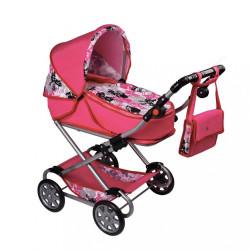 Detský kočík pre bábiky 2v1 New Baby Veronika ružová