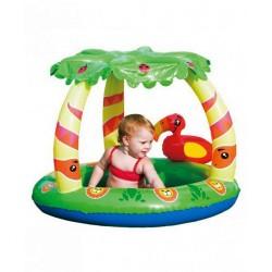 Detský nafukovací bazén so strieškou Bestway Jungle zelená