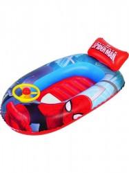 Detský nafukovací čln s volantom Bestway Spider Man Červená