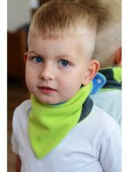 Detský obojstranný fleecový nákrčník VG ružovo-malinový