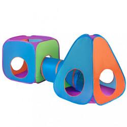 Detský stan Baby Mix 3v1 oranžovo-modrý multicolor