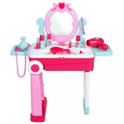 Detský toaletný stolík v kufríku 2v1 Bayo ružová
