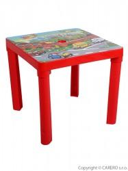 Detský záhradný nábytok - Plastový stôl červený Červená