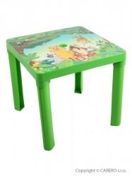 Detský záhradný nábytok - Plastový stôl zelená