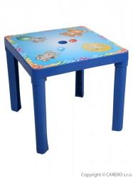 Detský záhradný nábytok - Plastový stôl modrý modrá