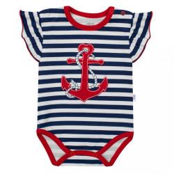 Dievčenské body s krátkym rukávom New Baby Marine modrá