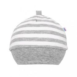 Dojčenská bavlnená čiapočka New Baby Zebra exclusive biela