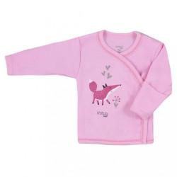 Dojčenská bavlnená košieľka Koala Happy Baby ružová