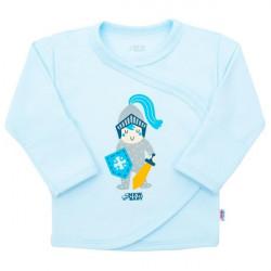 Dojčenská bavlnená košieľka New Baby Knight modrá