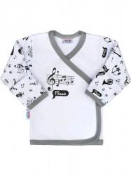 Dojčenská bavlnená košieľka New Baby Music biela