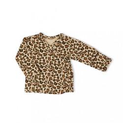 Dojčenská bavlněná košilka Nicol Mia hnedá