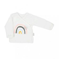 Dojčenská bavlněná košilka Nicol Mia smotanová