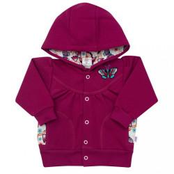 Dojčenská bavlnená mikina New Baby Little Girl ružová