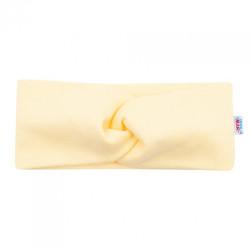 Dojčenská čelenka New Baby Style žltá 1