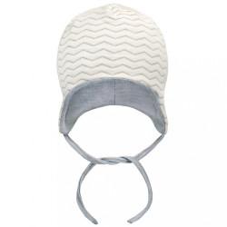 Dojčenská čiapočka Baby Service Cik-Cak sivá