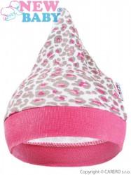 Dojčenská čiapočka New Baby Leopardík ružová