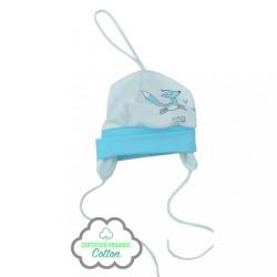 Dojčenská čiapočka z organickej bavlny Koala Lesný Priateľ modrá