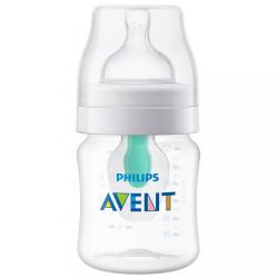 Dojčenská fľaša Avent Anti-Colic s ventilom Airfree 125 ml transparentná