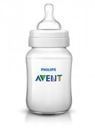 Dojčenská fľaša Avent Classic + 260 ml transparentná