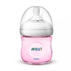 Dojčenská fľaša Avent Natural 125 ml ružová