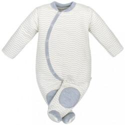 Dojčenská kombinézka Baby Service Cik-Cak sivá