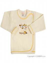 Dojčenská košieľka Bobas Fashion Benjamin béžová