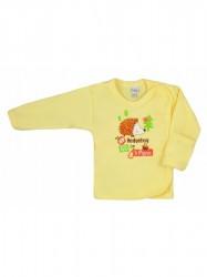 Dojčenská košieľka Bobas Fashion Ježko žltá