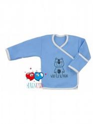 Dojčenská košieľka Koala Magnetky Wild Bear modrá