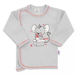 Dojčenská košieľka New Baby Mouse sivá