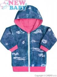 Dojčenská mikinka s kapucňou New Baby Light Jeansbaby ružová