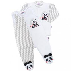 Dojčenská súprava New Baby Panda sivá