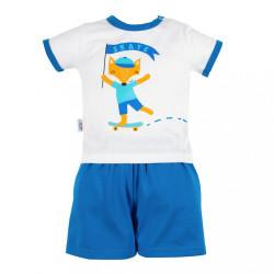 Dojčenská súprava tričko a kraťasky New Baby Líška modrá