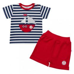 Dojčenská súprava tričko a kraťasky New Baby Marine modrá