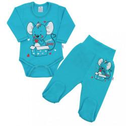 Dojčenská súpravička New Baby Mouse tyrkysová