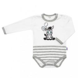 Dojčenské bavlnené body New Baby Zebra exclusive biela